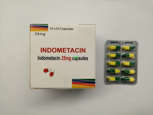 Porcellana L'indometacina incapsula 25MG BP/antireumatico 10*10's/scatola di USP distributore